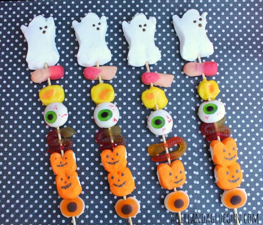 treat skewers for halloween