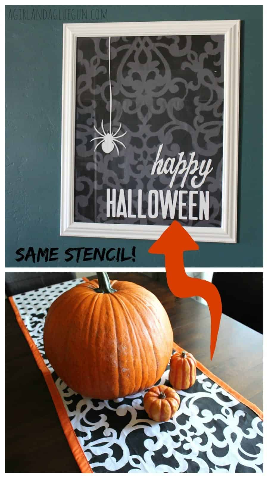 two fun halloween decorations made with a stencil from royal design