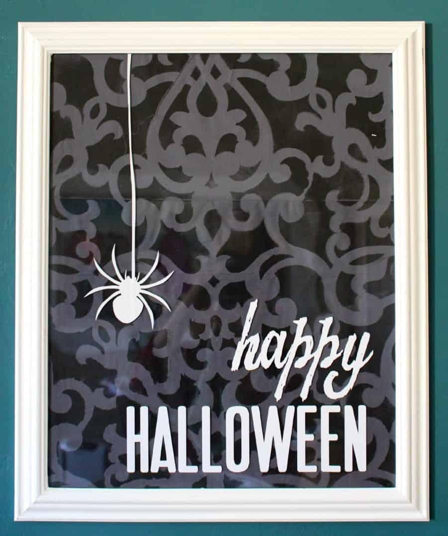 vinyl halloween frame
