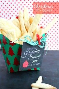 Christmas fry boxes