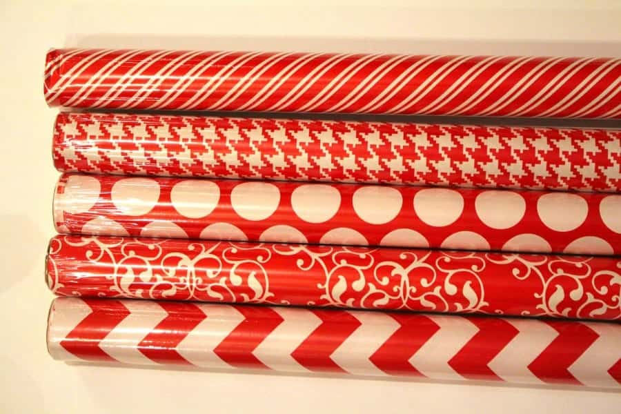 dollar store wrapping paper