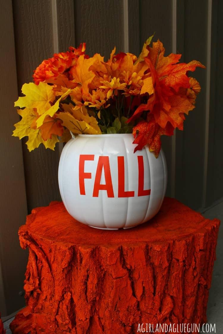 Fall Pumpkin Planters A Girl And A Glue Gun