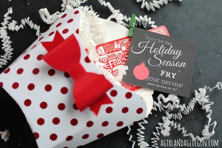 free printable with fun christmas fry box