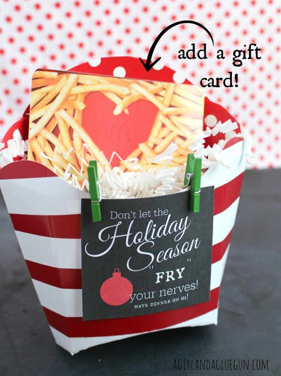 fry box for the holiday neighbor gift