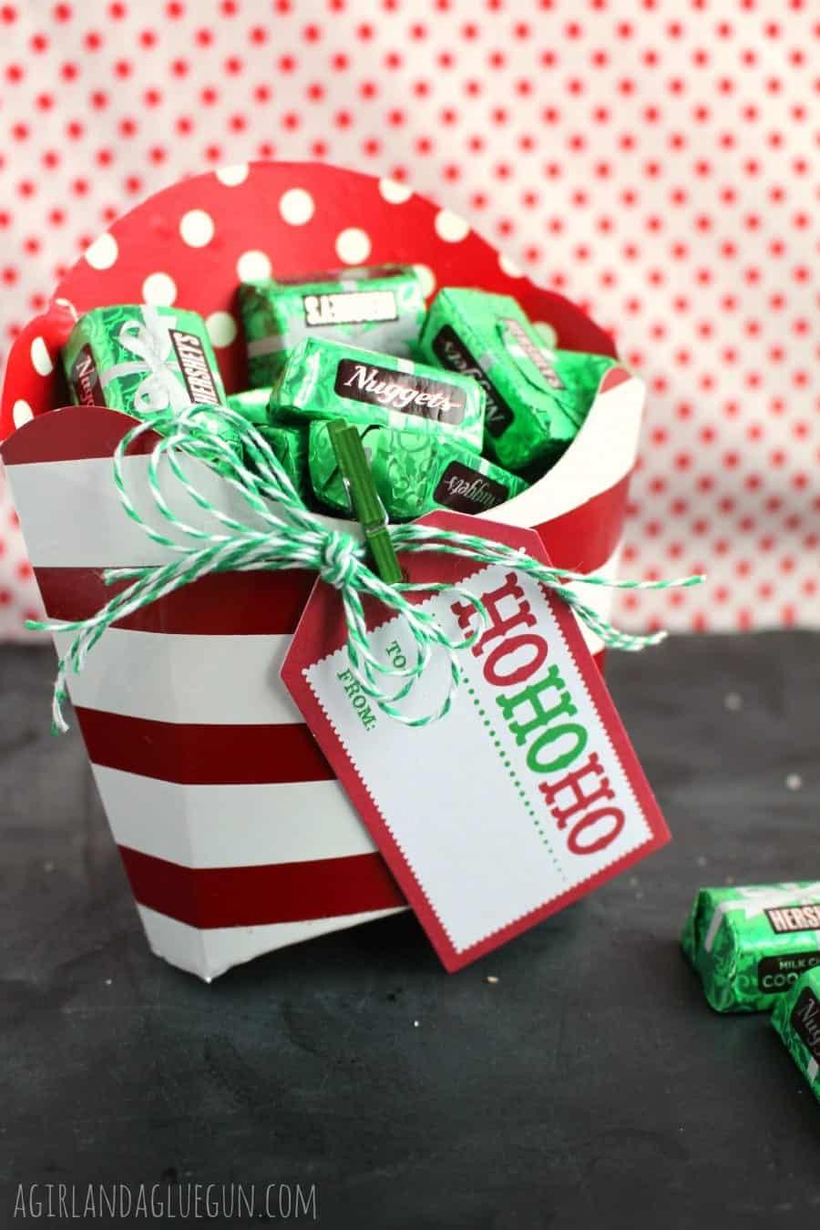 fry box holder for neighbor christmas treats