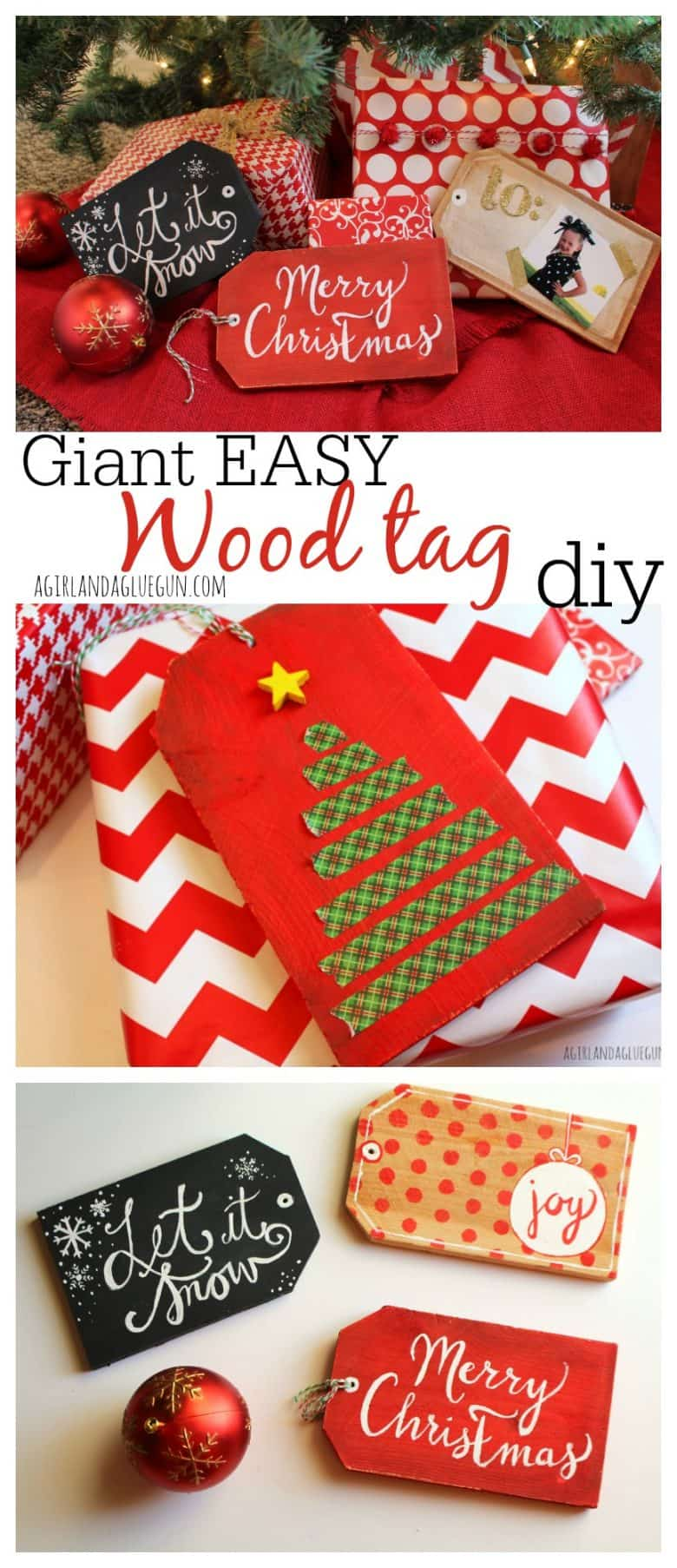giant wood tag diy for christmas