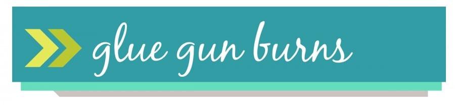 glue gun burns