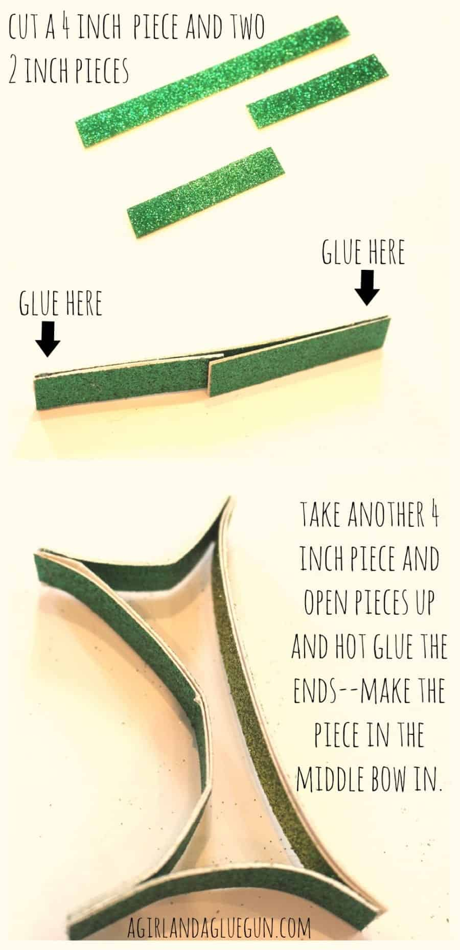 how to a make a paper holly leaf