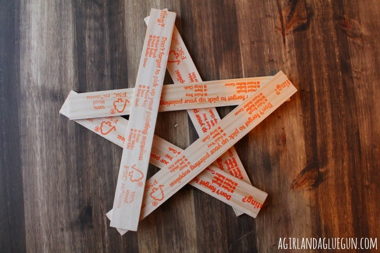 paint stick stars