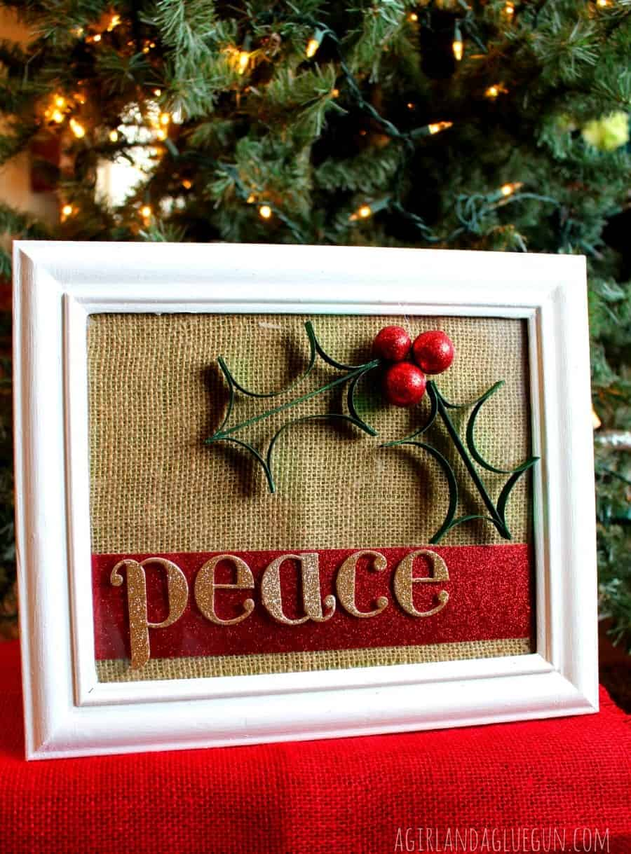 paper glitter christmas craft