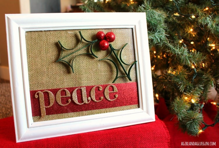 peace christmas sign