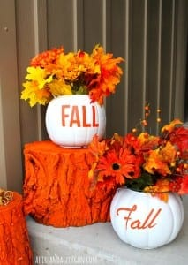 fall pumpkin planters