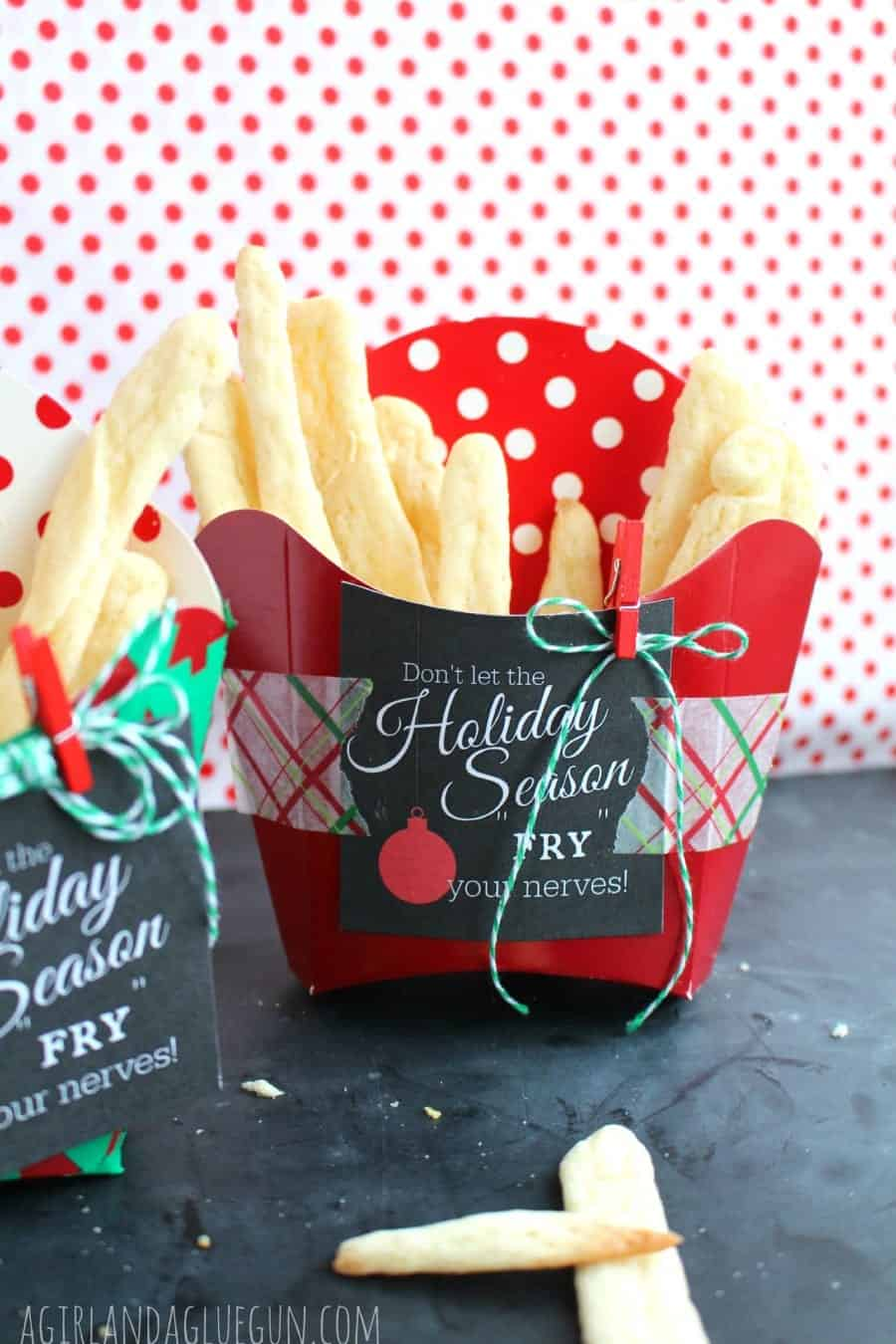 sugar cookie french fries...neighbor gift