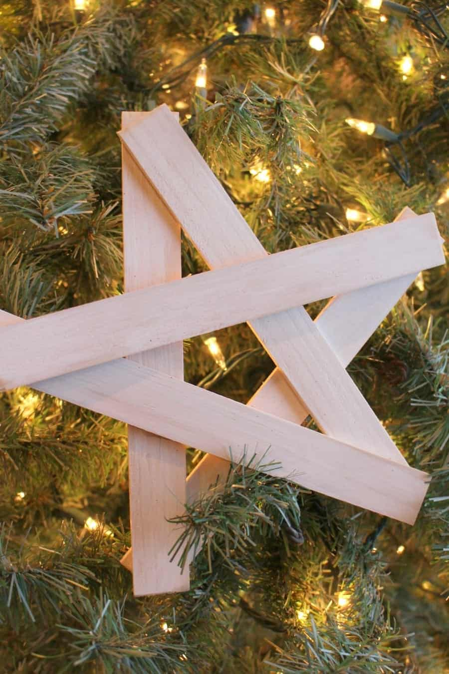 how to build a wooden christmas star