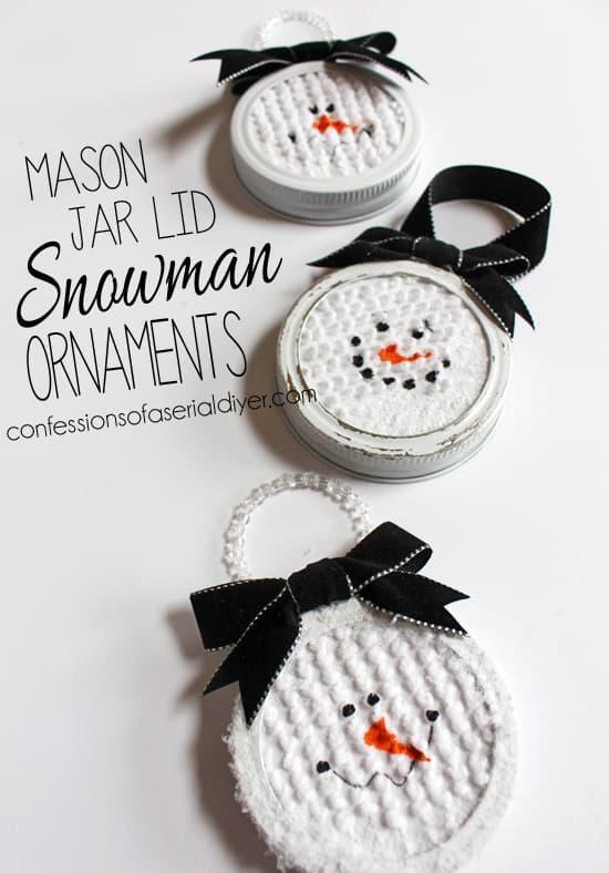 Mason-Jar-Lid-Snowman-Ornaments