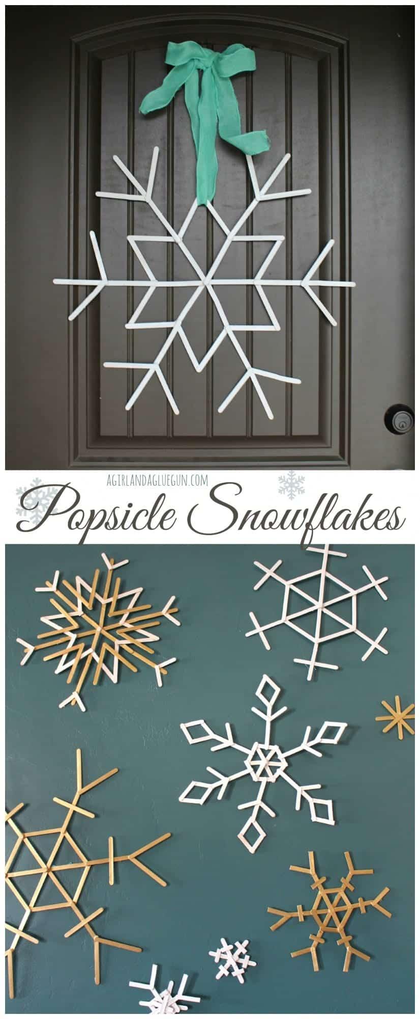 Popsicle snowflakes