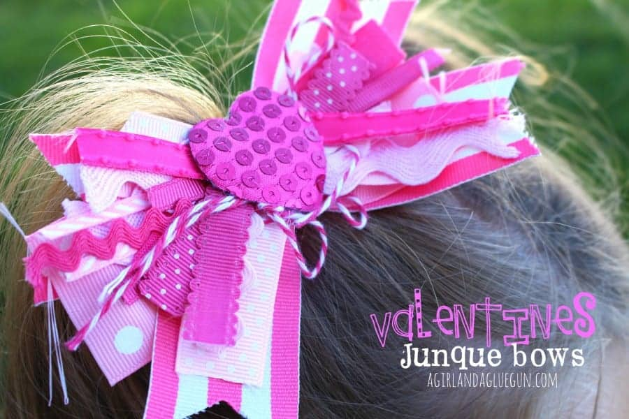 Valentines day junque bows