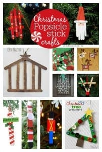 christmas Popsicle stick crafts--a girl and a glue gun