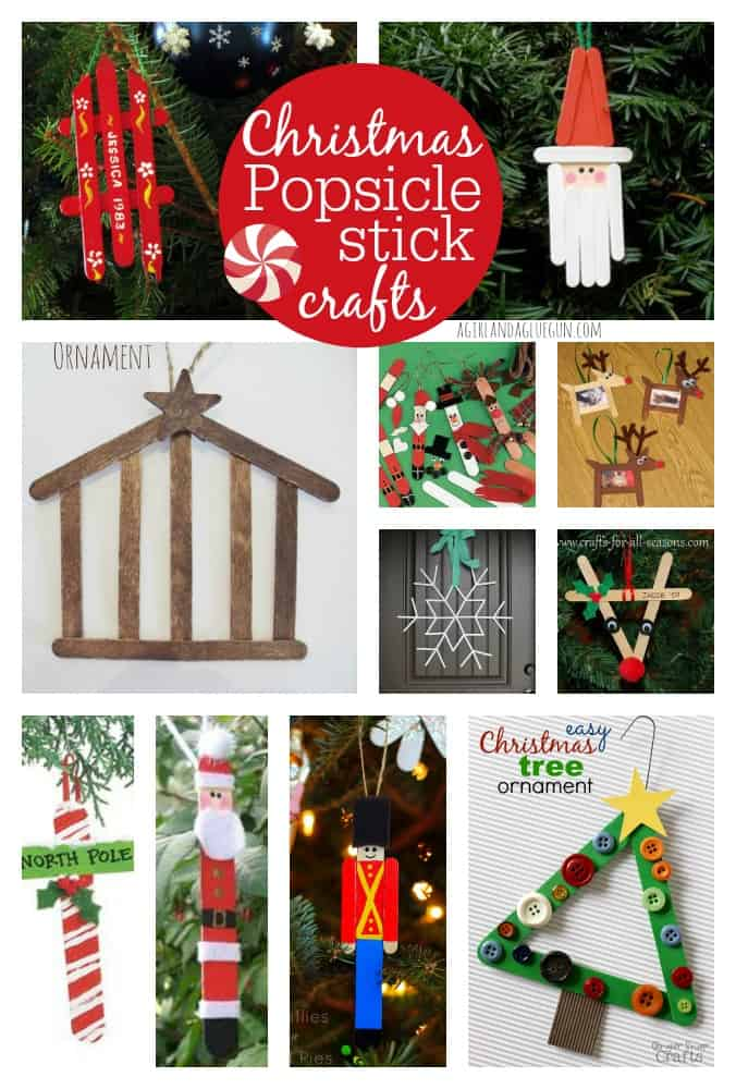 Cue Roundup Christmas Popsicle Stick Crafts A Girl And Glue Gun