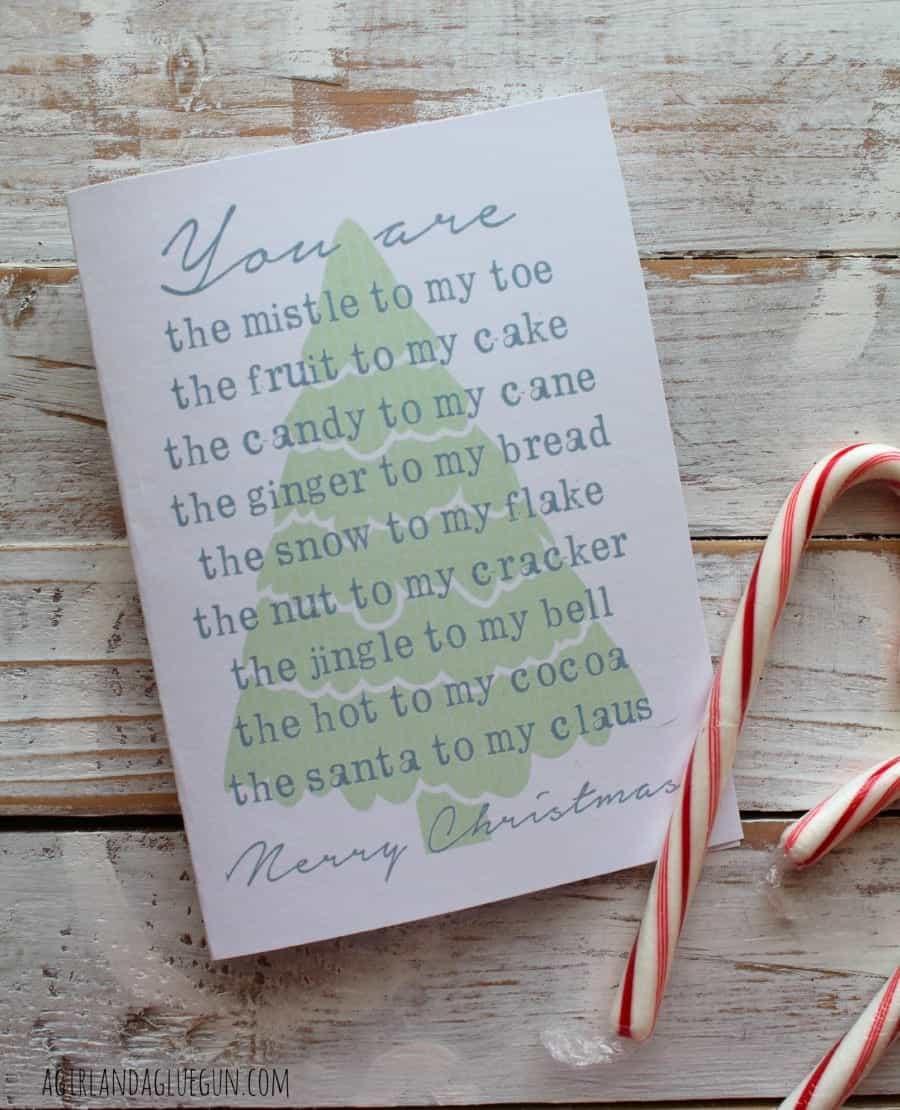 christmas card free printable