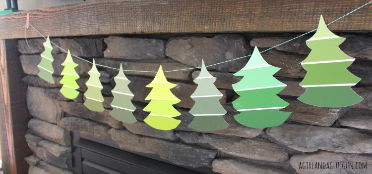 christmas tree paint chip garland