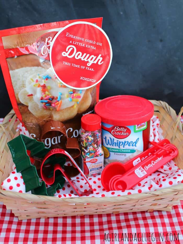 cookie diy gift basket for a fun christmas present with gift idea for coworkers