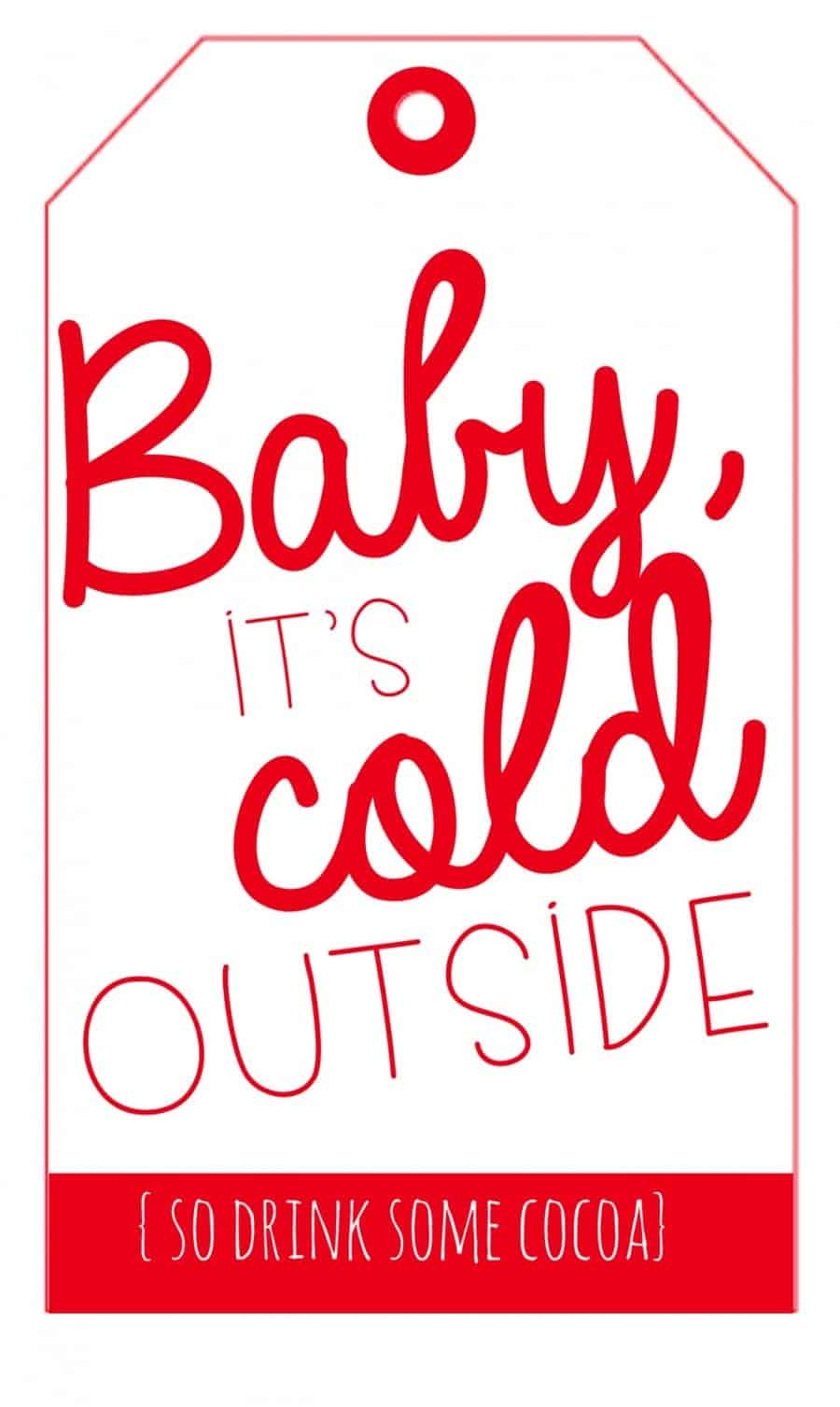 hot cocoa printable in red