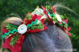junque bows made from leftover ribbon and scraps