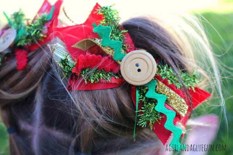 junque hair bows for christmas