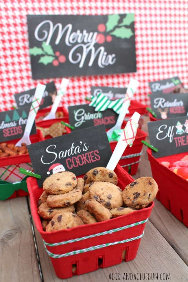 merry mix...a fun trail mix bar for the holidays