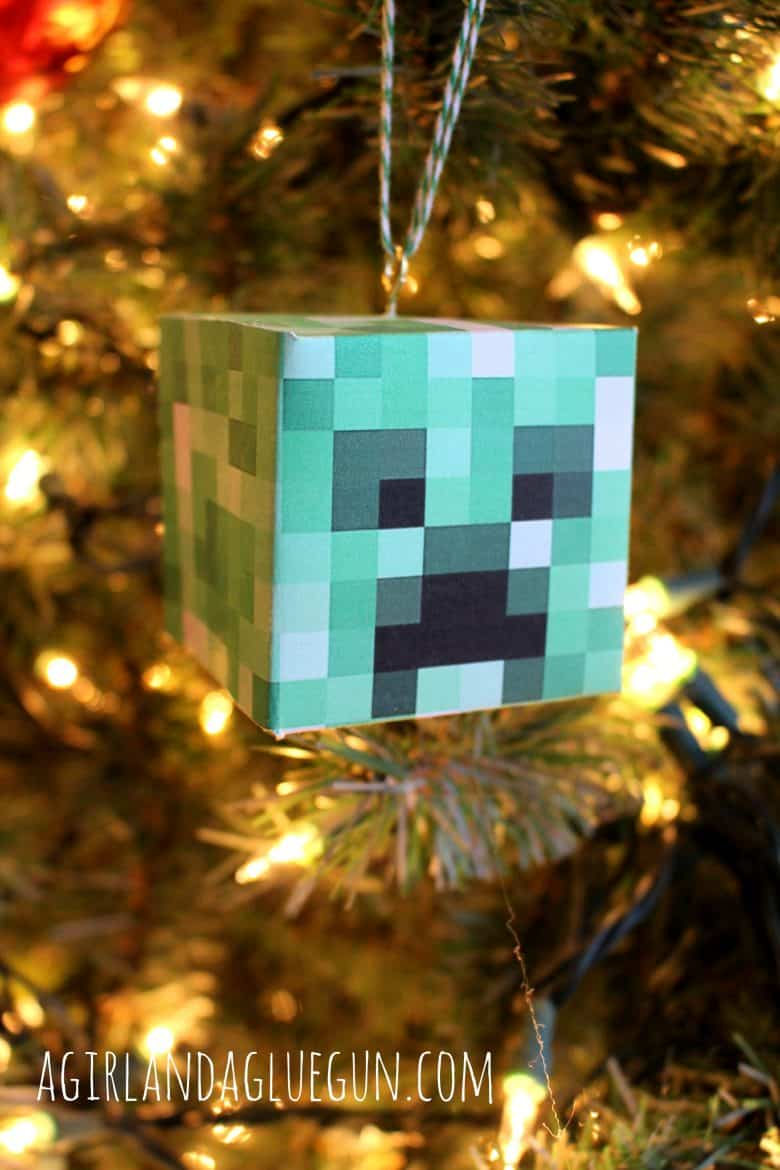 diy minecraft ornament - A girl and a glue gun