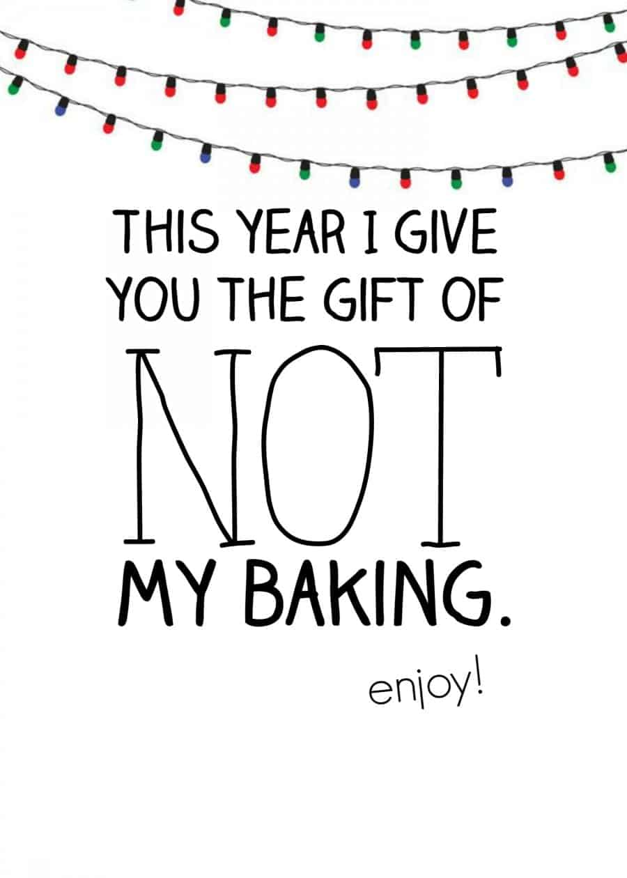 not my baking neighbor gift