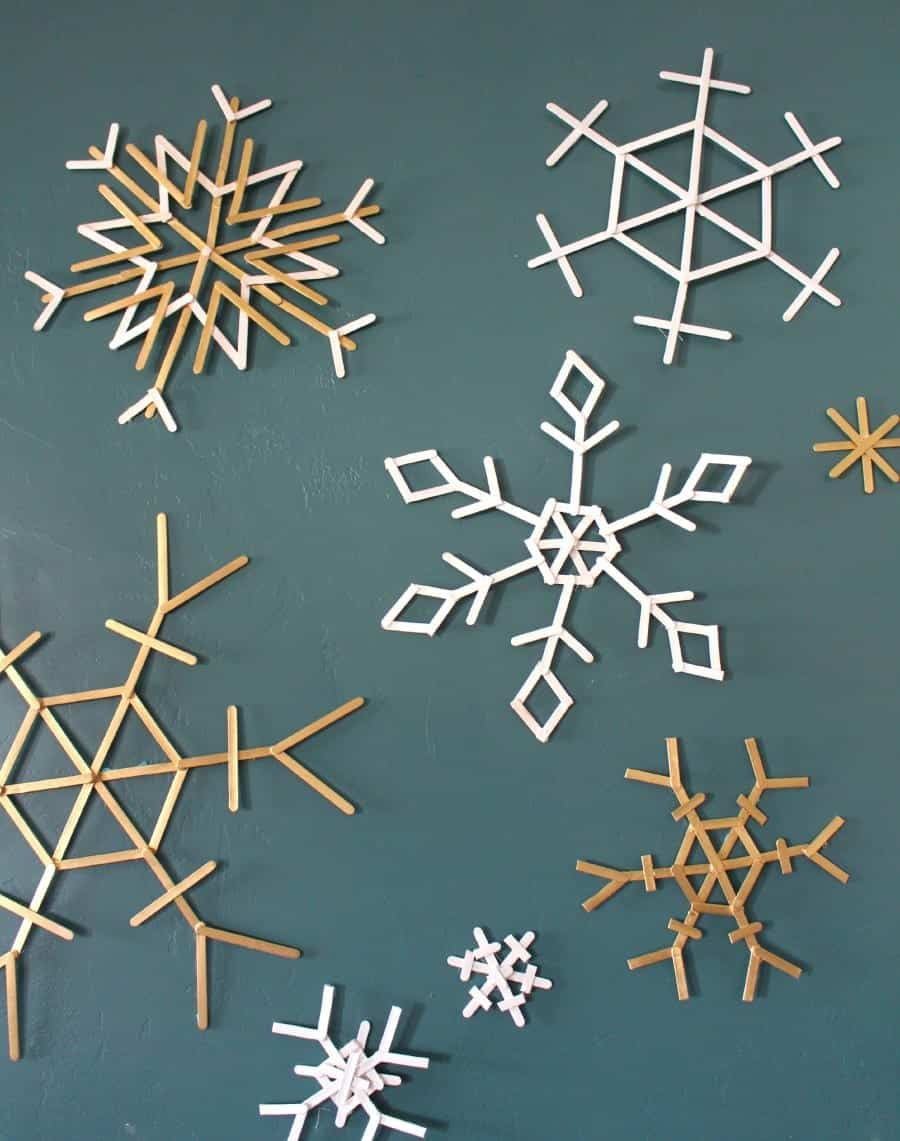 Popsicle Snowflakes Sugar Bee Crafts