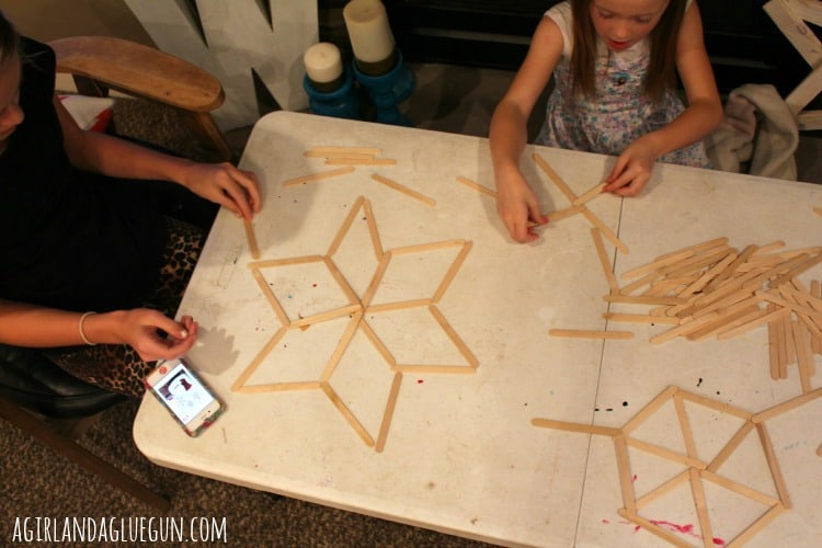 popsicle stick snowflakes how to