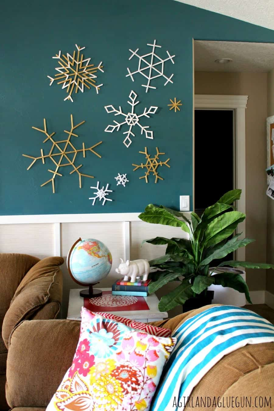 snowflakes on wall