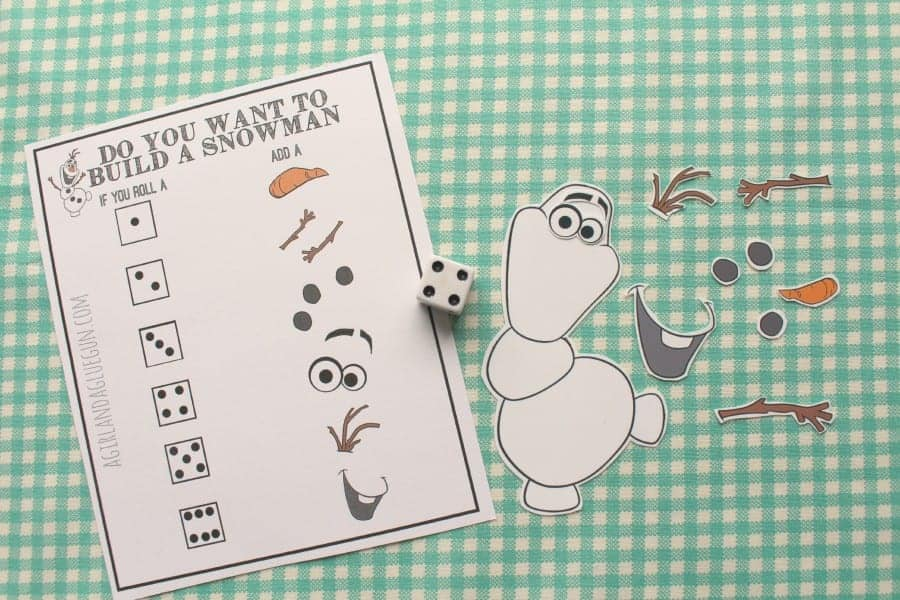 Do you want to build a snowman? Frozen Olaf game and printable. - A ...