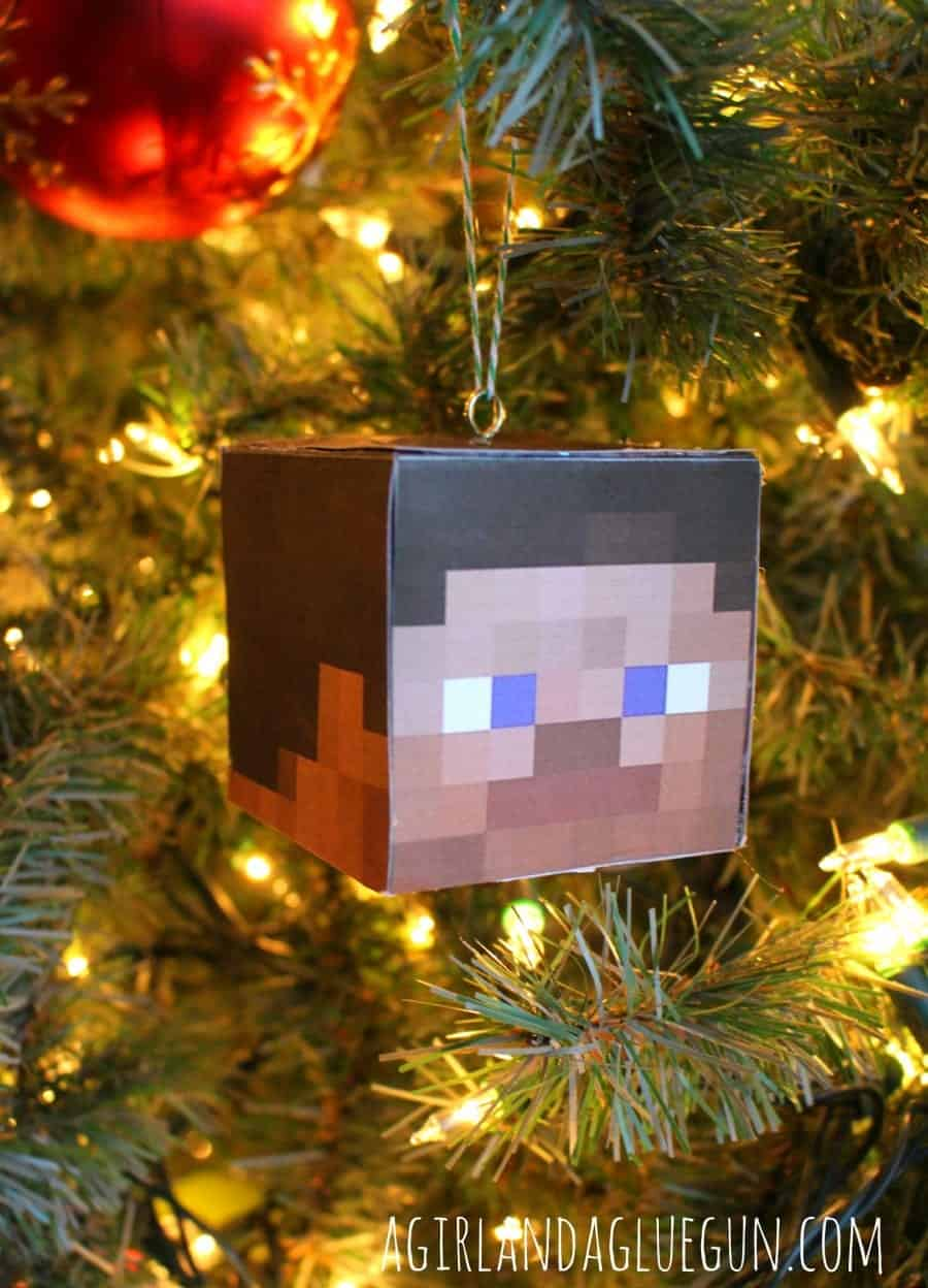 Diy Minecraft Ornament A Girl And A Glue Gun