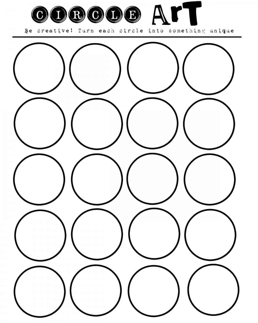 circle art printable for kids