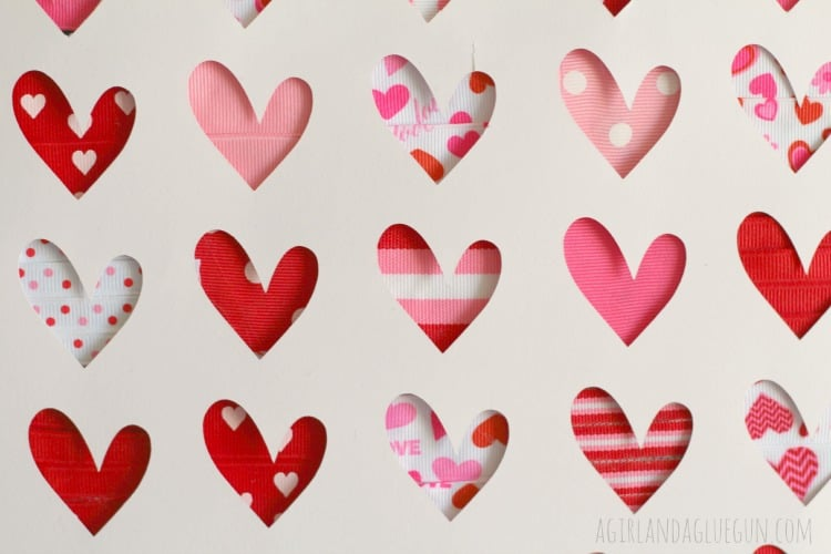 close up ribbon heart