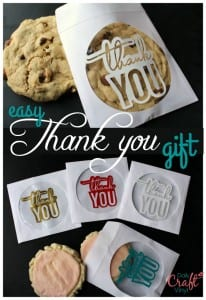 easy thank you gift--use daily craft vinyl