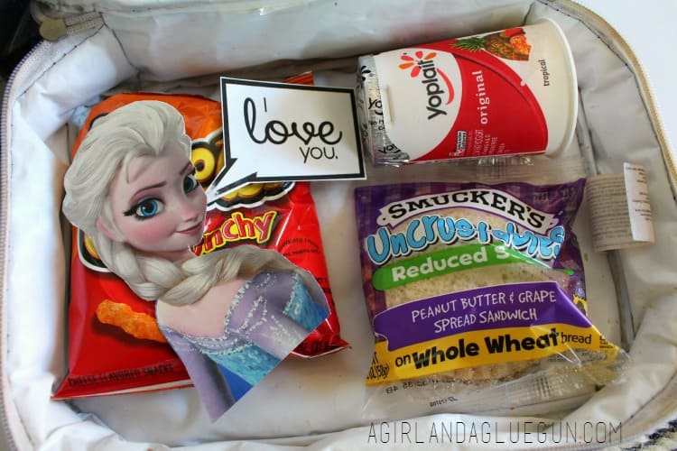 frozen lunch bag printables