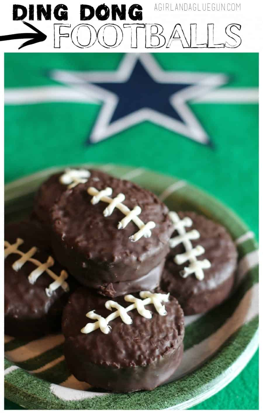 fun and easy superbowl treat--football into ding dongs