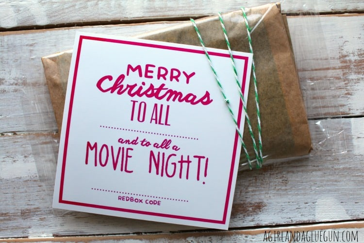 merry christmas to all and to all a movie night! - A girl and a glue gun