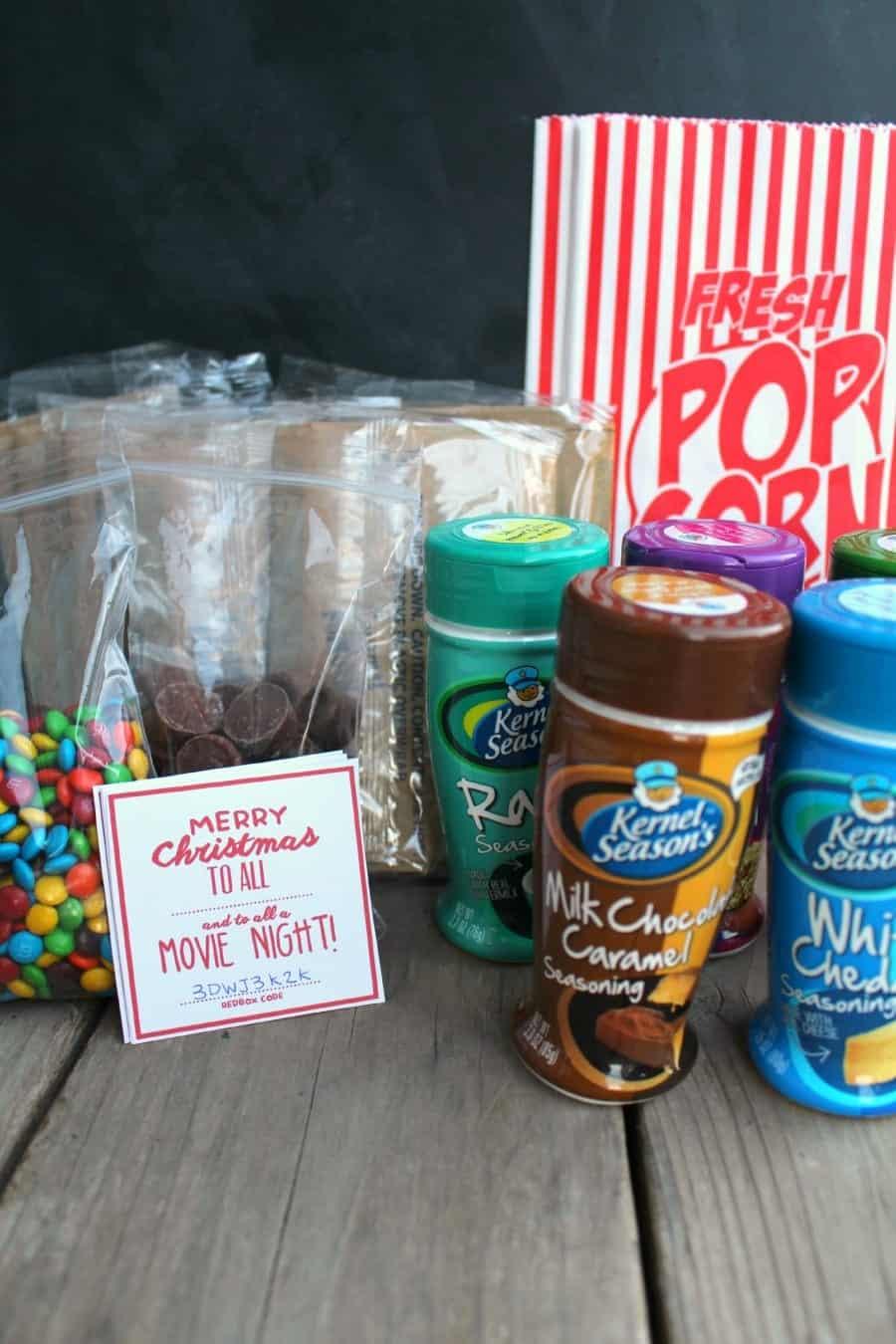 movie night neighbor gift with redbox code