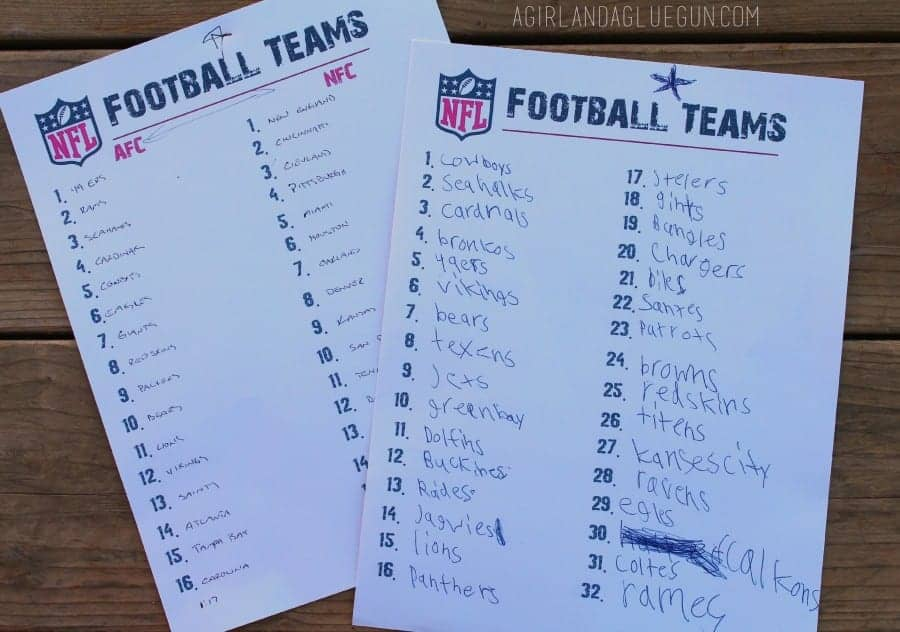 name all the afc and nfc football teams game