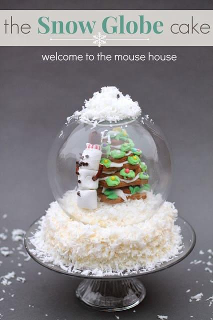 snowglobe cake opening