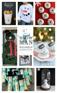 snowman roundup! over 20 great snowman treats, crafts and decorations!--a girl and a glue gun