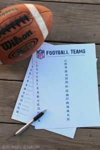 superbowl football game--free printable