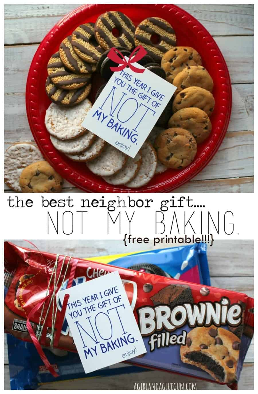 the best neighbor gift...not my baking..free printable