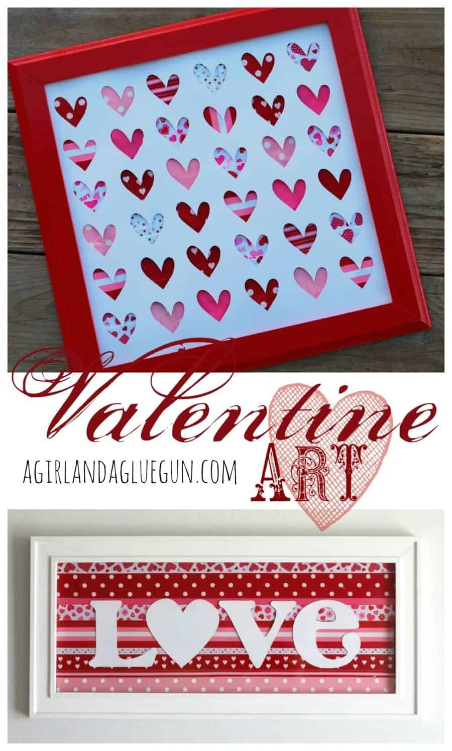 valentine art using ribbon retreat a girl and a gluegun
